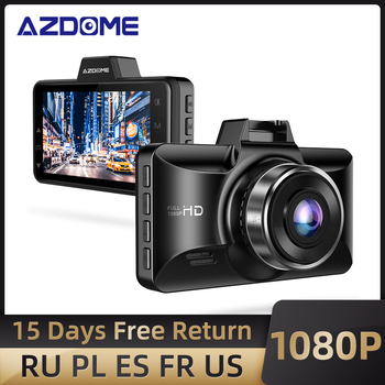AZDOME M01 Pro Dash cam 3-Inch 2.5D Screen 1080P HD Car DVR Recorder Driver Fatigue Alert 170 View Angle G-sensor for Uber